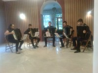 Muzyka akordeonowa rozbrzmiewała  w Dworku Horodyńskich
